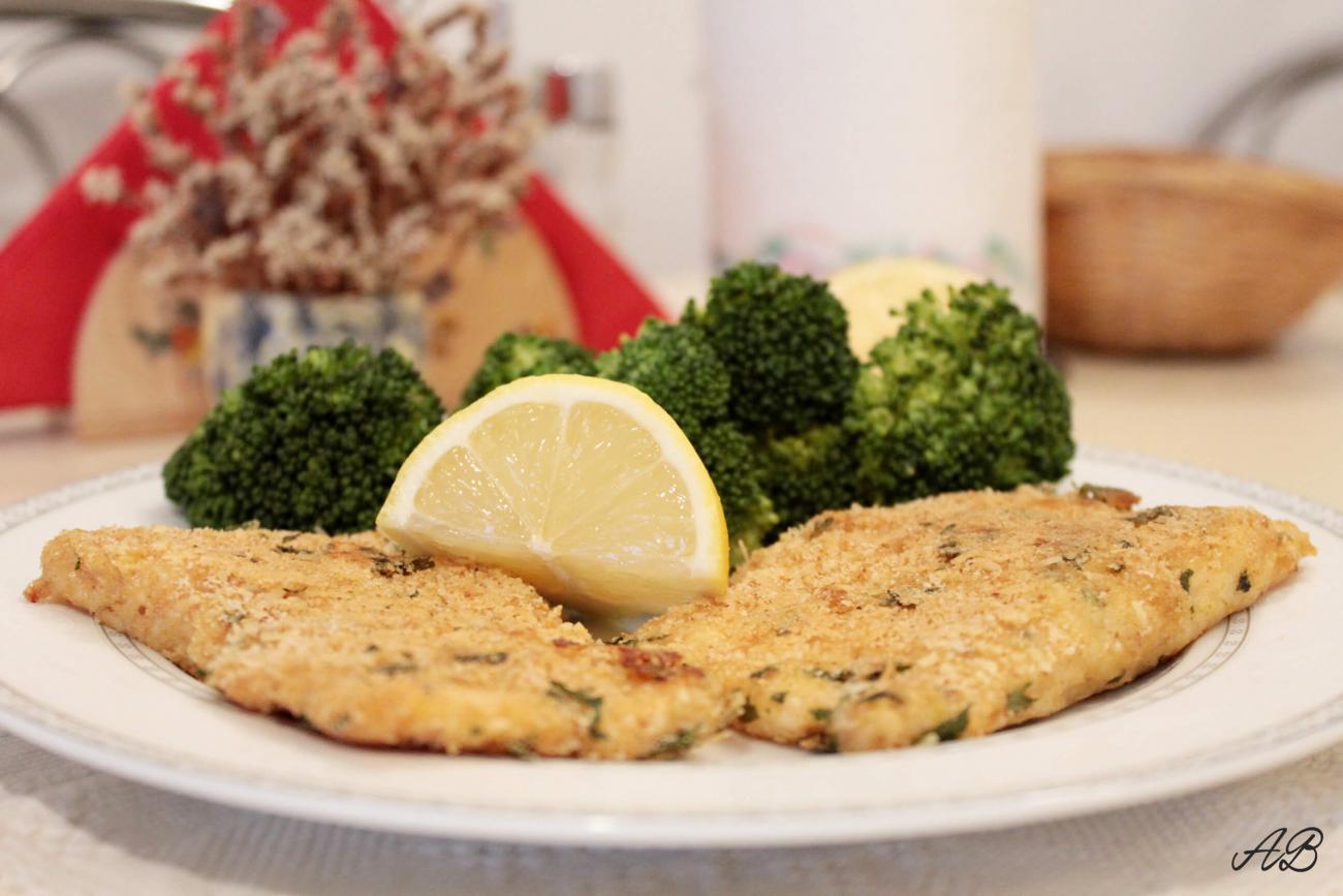 Pește în crustă de parmezan