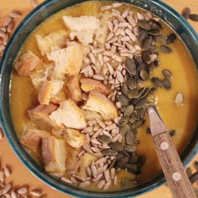 Supa crema de linte cu dovleac