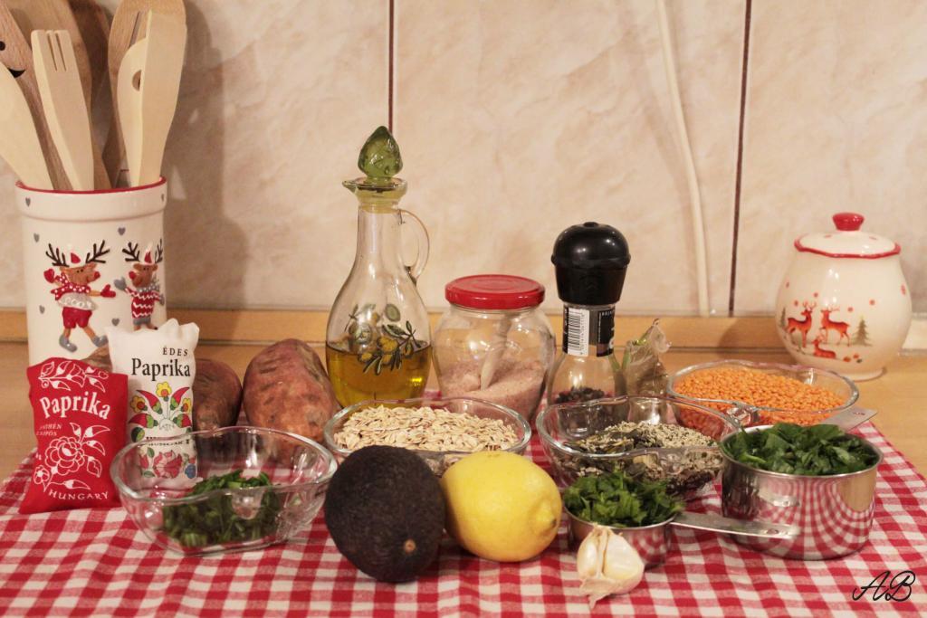 Chiftele cu linte si cartofi dulci ingrediente