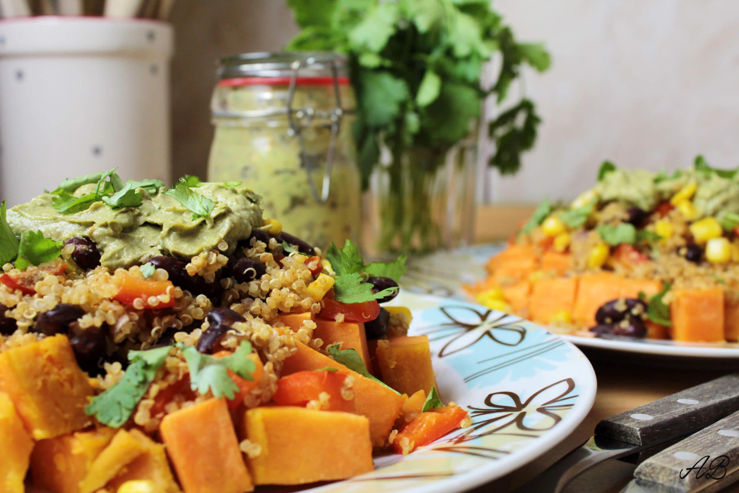 Salata mexicana cu cartof dulce