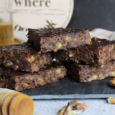 Brownies vegane cu banane nuci si carob