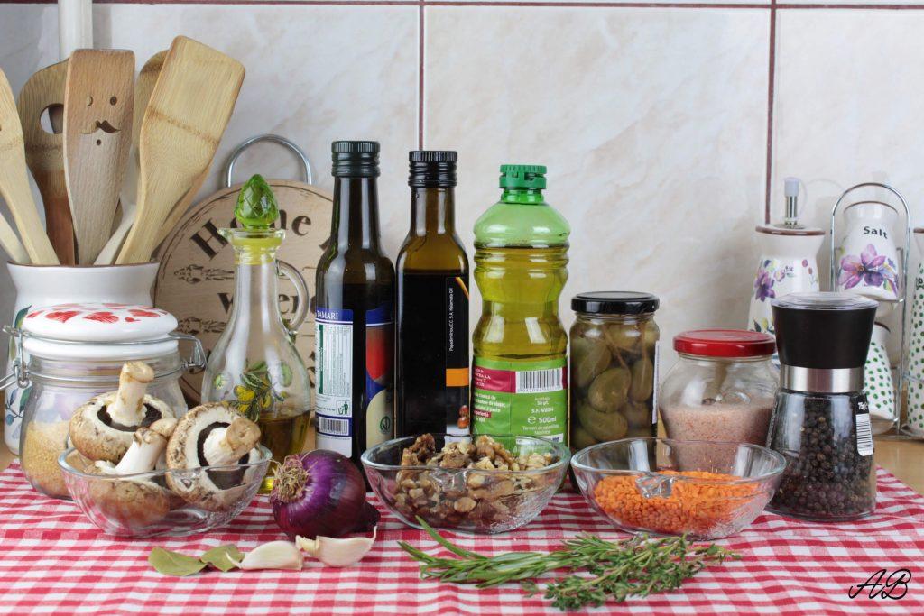 Pate cu linte si ciuperci ingrediente
