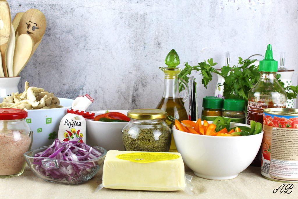 Fajita vegetariana cu pleurotus ingrediente