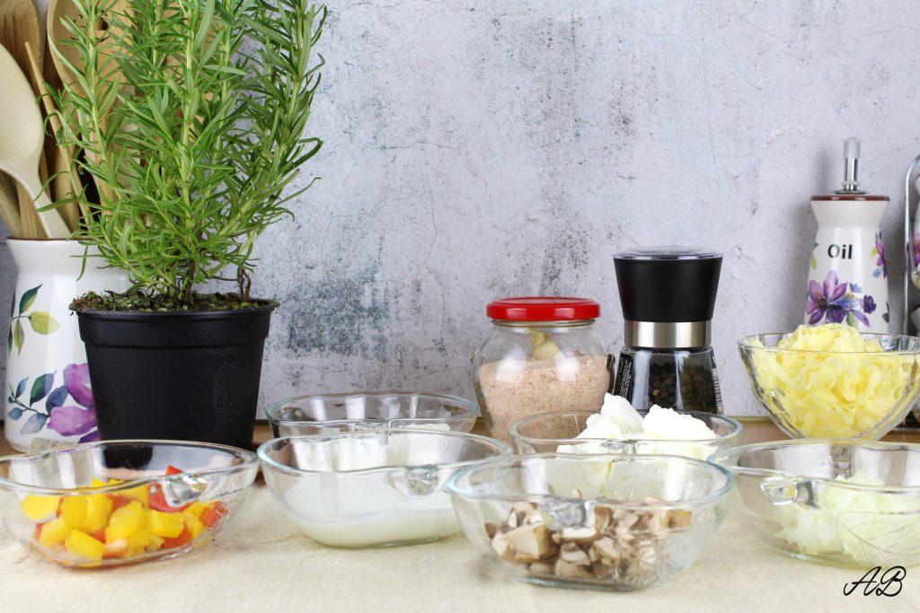 Mini quiche cu legume ingrediente